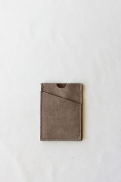 Card wallet taupe