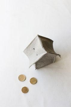 Grey piñatex money bank