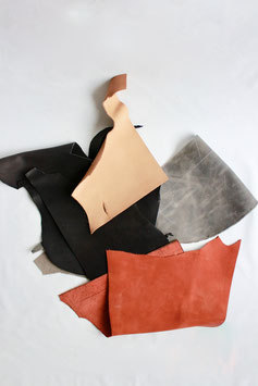 Leather scraps L