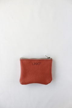 zipper pouch coral red
