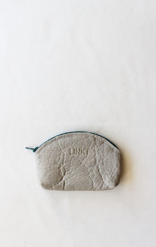 Grey piñatex zipper pouch