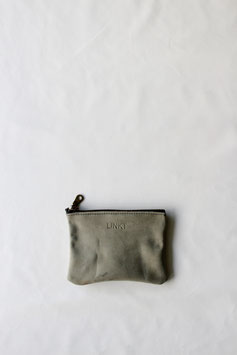Zipper pouch soft green