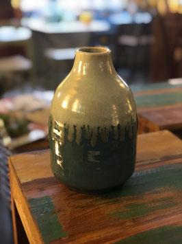 Jarrón de cerámica bicolor