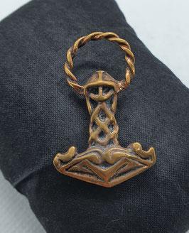 Kleiner Bronzeanhänger Thors Hammer