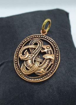 Bronzeanhänger Midgardschlange
