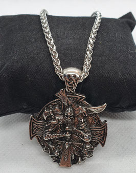 Edelstahlkette mit Anhänger Odin