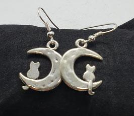"""Ohrhänger """"Katze im Mond"""""""