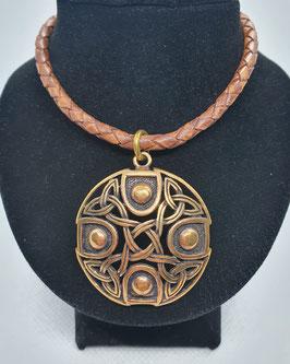 Keltisches Amulett , echt Bronze inkl. Lederkette