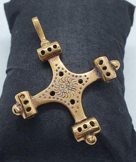 Bronzeanhänger Thorshammerkreuz
