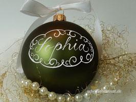 Weihnachtskugel Neo-Barock, dunkelgrün matt