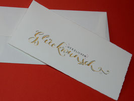 """Karte """"Herzlichen Glückwunsch"""""""