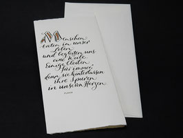 Trauer- / Kondolenzkarte Flavia