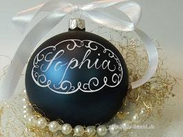 Weihnachtskugel Neo-Barock, dunkelblau matt