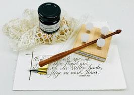 "Kalligraphieset mit Oblique Penholder ""Elegant"" Zwetschge"