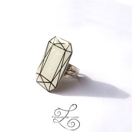 Bague Solitaire rectangle