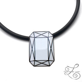 "Collier Solitaire ""Diamant rectangle"""