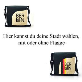 """Wechseltasche """"Deine Stadt mit Flagge"""""""