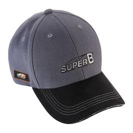 Gorra profesional oficial Super B GRIS/NEGRO