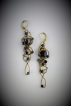 """Black Insanity"" Earrings"