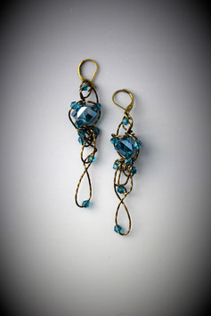 """Turquoise Insanity"" Earrings"