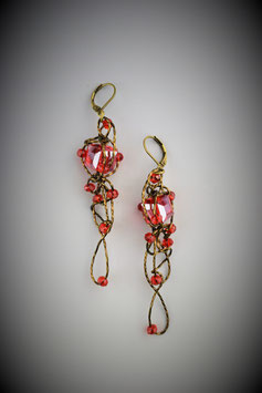 """Red Insanity"" Earring"
