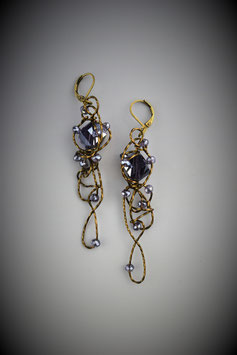 """Purple Insanity"" Earrings"
