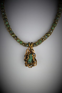 Natural Columbian Emerald Pendant