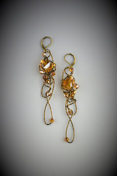 """Amber Insanity"" Earrings"