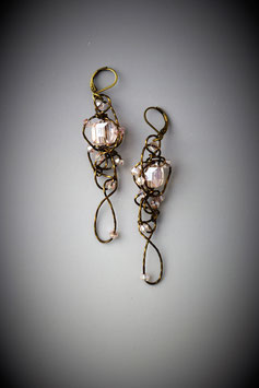"""Pink Insanity"" Earring"