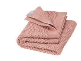 """couverture tricotée """"nid d'abeille"""" laine mérinos, Disana"""