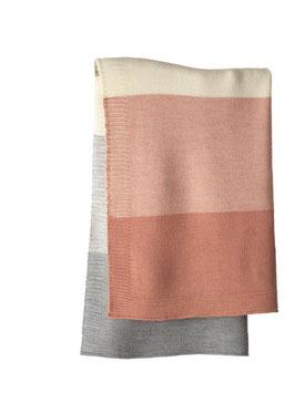 couverture tricotée laine 5 couleurs, Disana