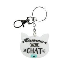 Porte clé Chat Blanc