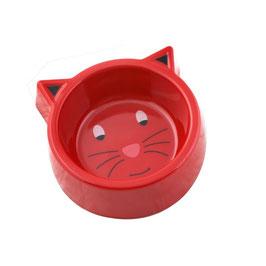 Gamelle pour chat rouge