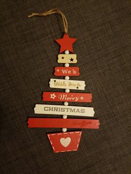 Décoration Sapin Noël en bois