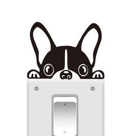 Sticker Chien Bouledogue pour interrupteur