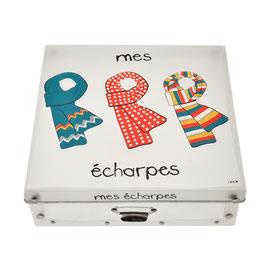 "Boîte de rangement INCIDENCE ""Mes Echarpes"""