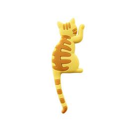 Magnet Frigo Chat jaune