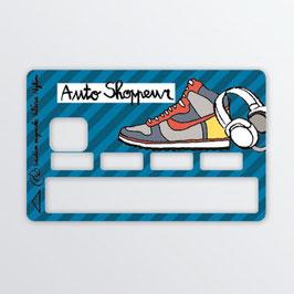 Sticker Carte Bleue Auto Shoppeur Valérie Nylin