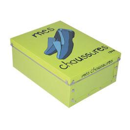 Boite à rangement chaussures vert anis