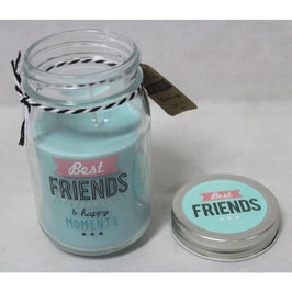 "Bougie en jar ""Best friends"""