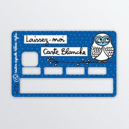 Sticker Carte Bleue Carte Blanche Valérie Nylin