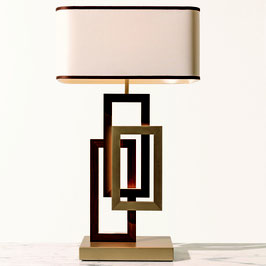 Oasis Edge table lamp with white cotton lampshade