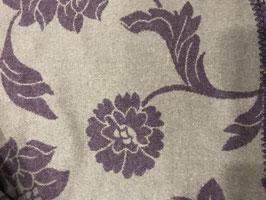 Lodenplaid lila mit grauen Rosen