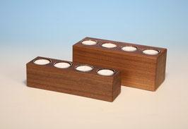 4er Teelichthalter aus Nussbaumholz
