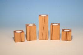 Teelichthalter aus Kernbuchenholz