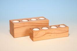 4er Teelichthalter aus Kernbuchenholz