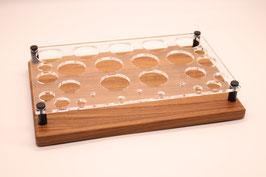 Liquidständer Mix aus Nussbaumholz & Acrylglas