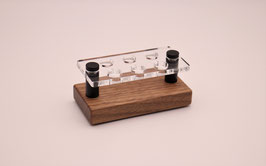 Drip Tip- Ständer 810 aus Nussbaumholz & Acrylglas