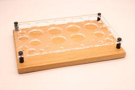 Liquidständer Mix aus Eichenholz & Acrylglas
