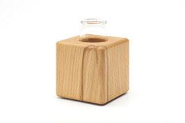 Kleine Holzvase aus Kernbuchenholz